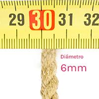 Cuerdas de yute para shibari y Kinbaku 6mm de diámetro