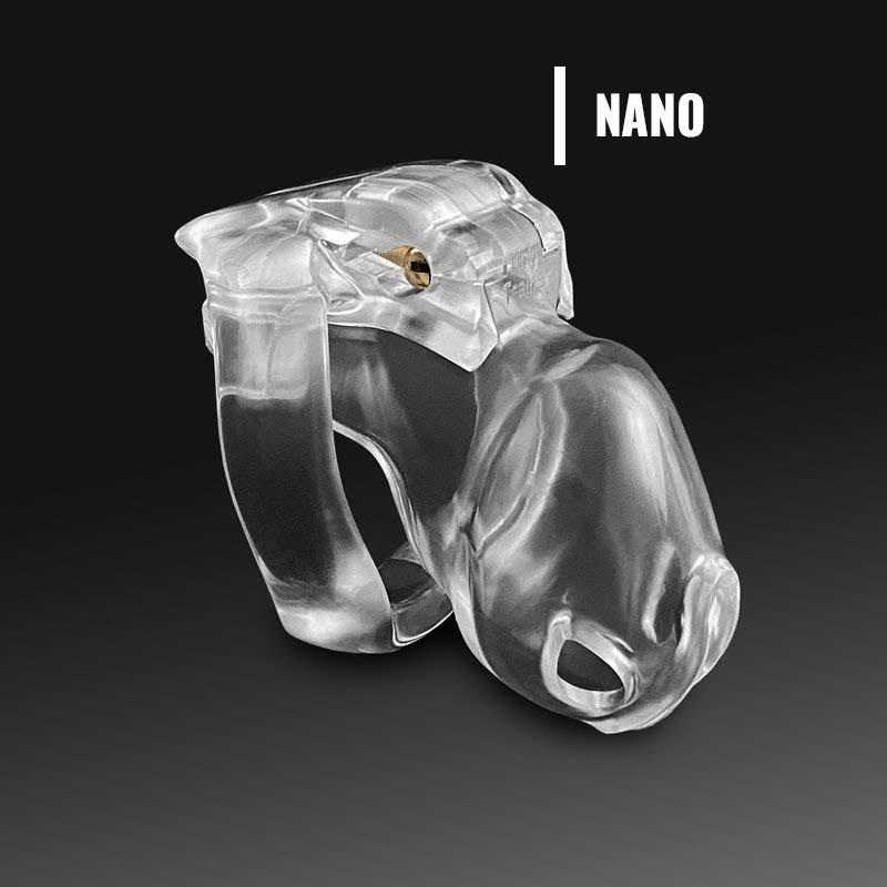 Holy Trainer v4 Jaula de Castidad rosa transparente chastity nano device cage