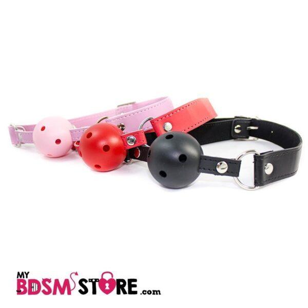 Mordazas de Bola de colores Gagball colors red black pink