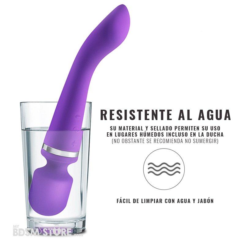 Vibrador Magic Wand Premium Varita Magica vibrator hombre mujer USB potente y suave estimulacion Placer Resistente al agua