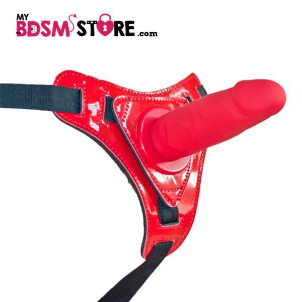 Arnés Strapon fetish ajustable color rojo para bdsm fetish y pegging
