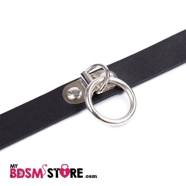 Collar clásico con argolla cierre hebilla BDSM