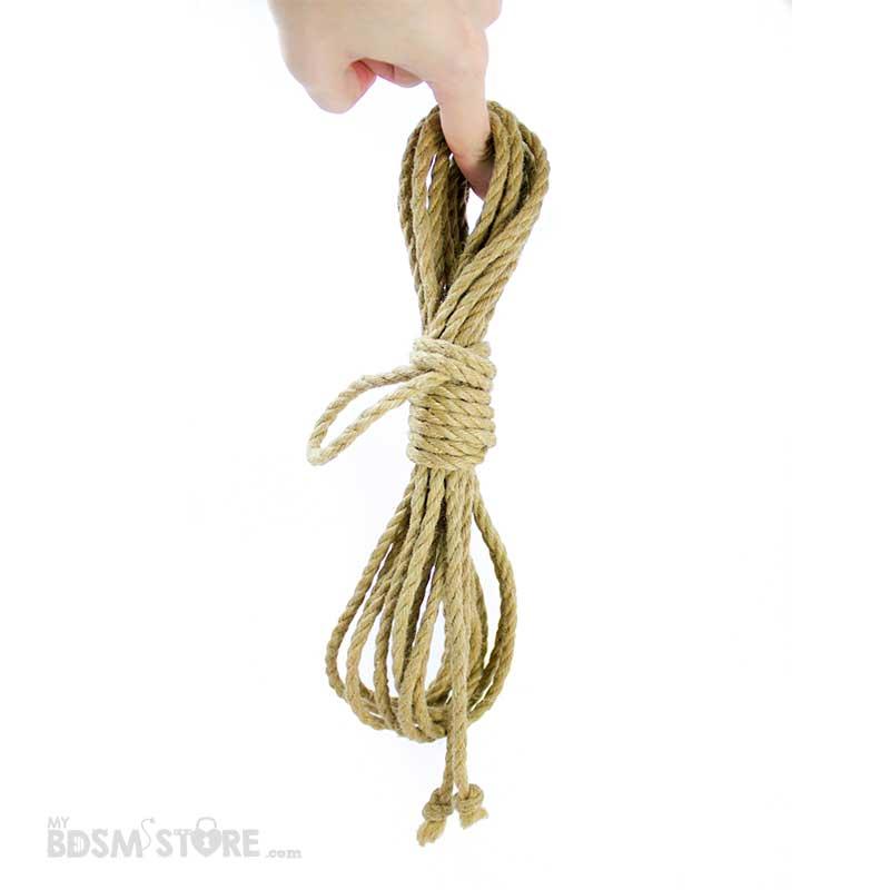 Cuerda de yute para shibari y kinbaku. comprar cuerdas para bdsm y bondage de yute 6mm