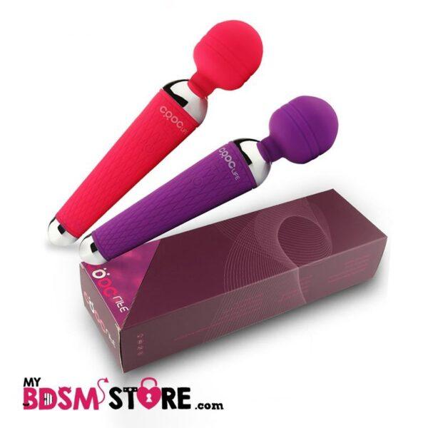vibrador magic wand potente, recargable, manejable, muy suave, de alta calidad, flexible, de diseño, placentero, versatil, a prueba de agua, con15 fercuencias de vibración rosa y morado