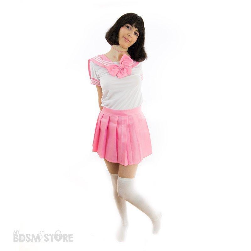 Uniforme de colegiala Seifuku kawaii rosa sexy bdsm role play juegos de rol lolita, japonesa cuqui cute adorable