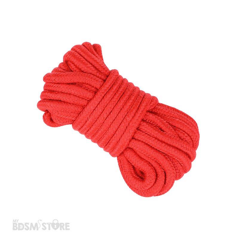 Cuerda de Algodon para juegos de bondage y restricciones BDSM ataduras atar tie exposición erotismo 5m rojo