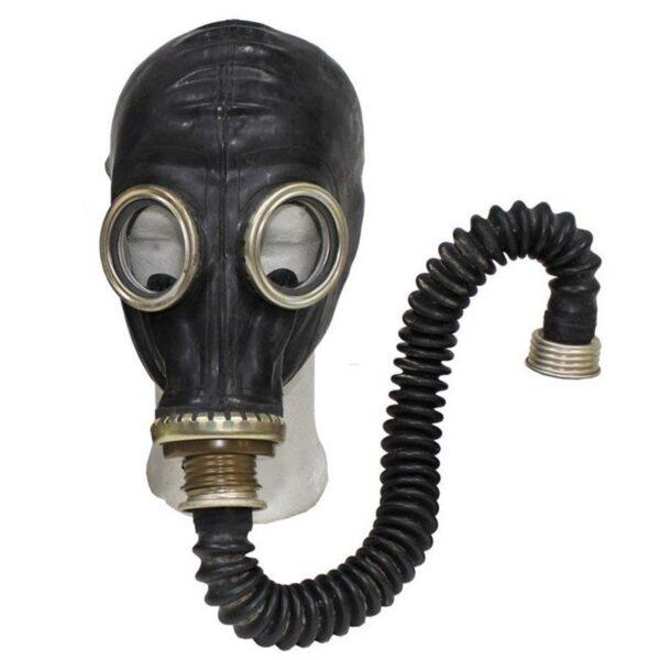 mascara de gas fetish control respiracion breath play sovietica negra tubo