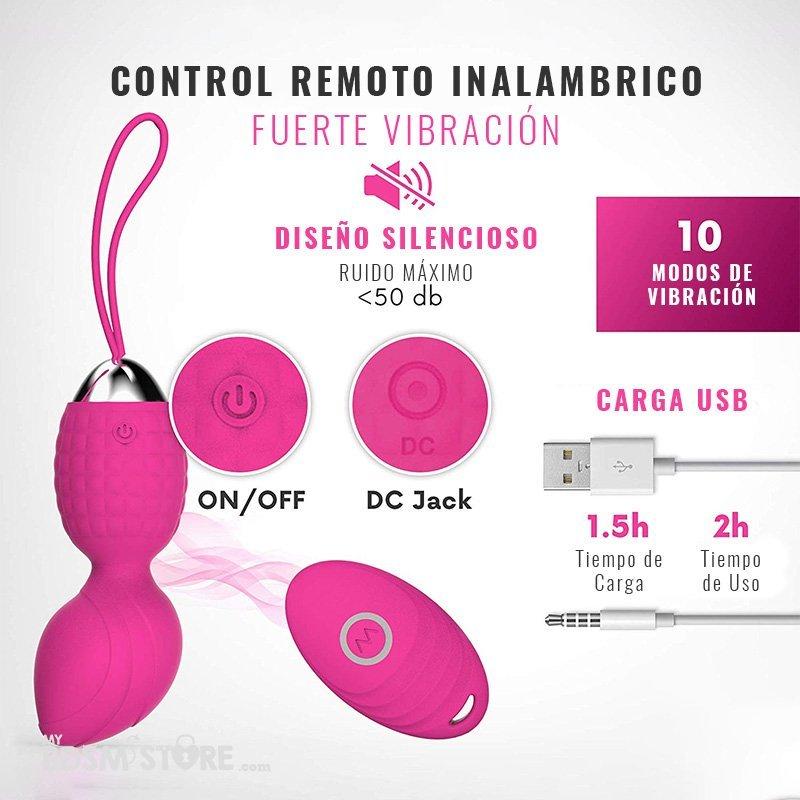 Kit Bolas Kegel Premium Triple Triple kegel ball set ben wa pelvis pelvico vibrador remoto placer mujer control remoto